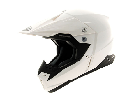 CASCO CROSS MT SYNCHRONY SOLID Blanco Brillo