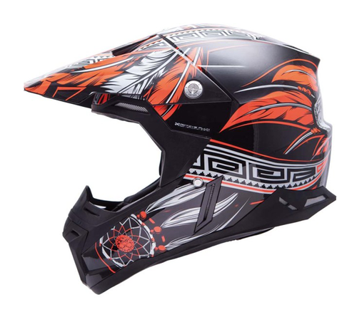 CASCO MT SYNCHRONY NATIVE NEGRO/NARANJA
