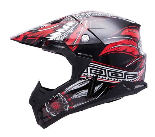 CASCO MT SYNCHRONY NATIVE NEGRO/ROJO