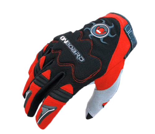 GUANTE ON BOARD MX2 Negro/Rojo