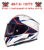 CASCO MT KRE SV INTREPID ROJO FLUOR BRILLO