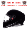 CASCO MT THUNDER 3 SV SOLID NEGRO BRILLO