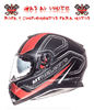 CASCO MT THUNDER 3 SV ROJO NEGRO MATE