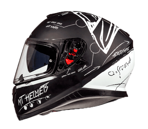 CASCO MT THUNDER 3 SV BOARD BLANCO NEGRO MATE