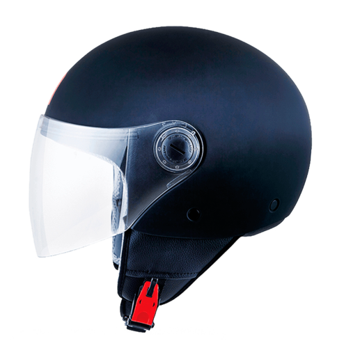 CASCO MT STREET SOLID NEGRO BRILLO