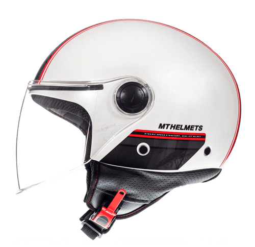 CASCO MT STREET ENTIRE BLANCO ROJO PERLA