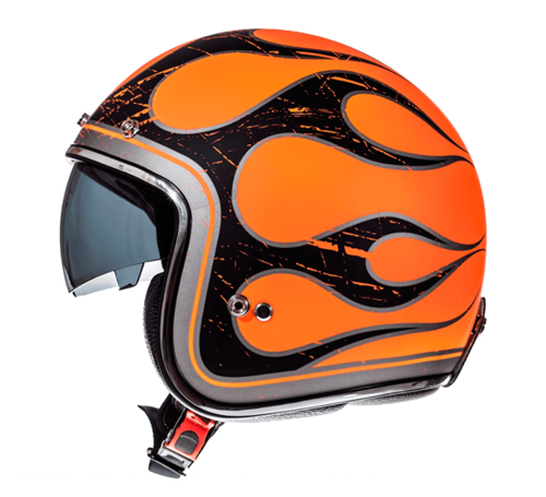 CASCO MT LE MANS 2 SV FLAMING NARANJA FLUOR